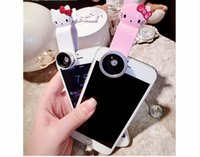 Wholesale kitty for iphone for sale – best Lovely Hello Kitty cartoon wide angle lens in Clip Lens Fisheye Wide Angle Macro Camera Kit For iPhone Samsung Samsung Smart Phones