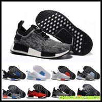 online Shopping Men %26 Women Sneakers - 26 colors DHL free NMD Runner Primeknit Men'S Running Shoes Fashion Running Sneakers for Men and Women Human Race Free Shipping Black