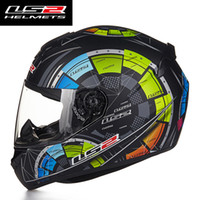 Wholesale Ls2 Helmets Yellow - Wholesale- Hot Sale LS2 FF352 Motorcycle Helmet Skull Full Face Mens Racing Helmets ECE Approved Capacetes Casco Moto L XL XXL Size