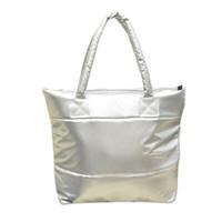 Wholesale women stylish handbag wholesale - Wholesale- SAF-Hot sale Products Stylish Simple Pure Color Stripe Winter Cotton Handbag Shoulder Bag-Silver