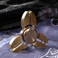 Wholesale Quad Machine - Brass Crab Spinner Metal Quad-Spinner Tri-spinner Dual-Spinner Machined Hand Spinner Brass Fidget Spinners EDC Decompression Fidget Toys
