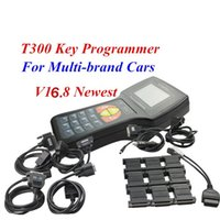Wholesale Black Blue Universal T T Auto Key Maker T300 V16 Car OBD2 Key Programmer English Spanish Optional T Code Decoder