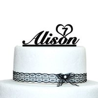 Wholesale Personalized Baby Shower Decorations - Wholesale- Birthday Cake Topper, Custom Name Birthday Cake Topper, Personalized Birthday Cake Topper, Baby Shower Decoration Casamento