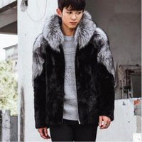 Wholesale Mink Fur Coats For Men - Casaco Masculino Mens Winter Autumn Imitation Fur Coats Hooded Casual Man-Made Mink Fur Overcoats For Male Faux Fur Outwear Cj54