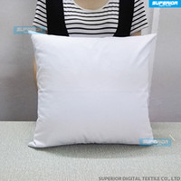 Wholesale 1pcs Plain White Color Pure Cotton Canvas Pillow Cover With Hidden Zipper For Custom DIY Print Blank Cotton Pillow Cover OZ GSM