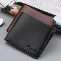 Wholesale Korean Boys Dressing - New Arrival Student Boy Wallets For Mens Brand Designer Bifold Money Purse High quality Party Traver Wallet Credit Card Case Black Color