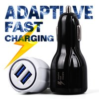 Wholesale Blackberry Car Charger Oem - Adaptive FAST Charger Charging Rapid Phone Car Quick 3.1A Dual USB For iphone 6 7 OEM Samsung Galaxy S7 S6 edge