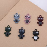 Wholesale Owl Enamel Ring - Free Shipping 10pcs 25*14mm New Arrival Zinc Alloy Colorful Night Owl Enamel Charm Pendant DIY Necklace Bracelet Key rings Jewelry Makings