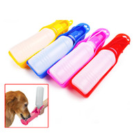 500ml Pet Dog Cat Alimentation d'eau Boisson Distributeur de bouteille Travel Portable Pliable Alimentation en plastique Bowl Puppy Water Bottle