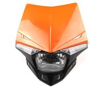 Wholesale Orange White Motorcycle Fairings - Refit UFO Motorcycle Headlight Fairing For KTM EXC Racing Bike Motorcross HONDA CRF-Red  Orange  White  Blue  Green