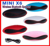 Wholesale Usb Mini Football Speaker - Mini X6 Bluetooth Speaker X 6 Rugdy football Portable Wireless Stereo Speakers Hands-free V3.0 Player Subwoofer With U Disk TF Card mobile