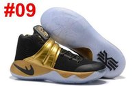 Wholesale Cut Gift Box - Cheap Kyrie 2 Mens Basketball Shoes Kyrie Irving 2 Gold Black Tie BHM All Star Basketball Sneakers Top Quality With Box Best Men Gift 7-12