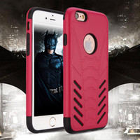Wholesale Iphone Bat - Bat Defender Cases For Iphone 7 7 plus Plastic TPU Shockproof 100% Fitted Cell Phone Case Cover