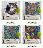 Wholesale Wholesale Curtain Wall - 7 Style Colorful Tapestry Wall Hanging Throw Bohemian Door Curtain 130x150cm Beach Towel Picnic Blanket