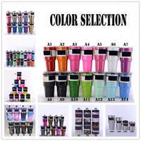 Wholesale Best Mugs - 2017 Popular 12 20 30oz Tumblers Stainless Steel Name Brand Cups Double Wall Bilayer Vacuum Insulated Cups Travel Vehicle Beer Best Mugs
