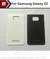 Wholesale Back Cover Battery S2 - Back Cover For Samsung Galaxy S2 i9100 Battery Housing Door Cover Black   White color Replacement Parts!!!
