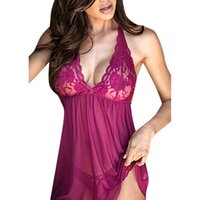 ingrosso orsacchiotto porpora sexy-All'ingrosso-New Sexy Women Lace Dress Lingerie Intimo da notte Sleepwear + G-string Plus Size