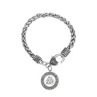 Wholesale Wicca Amulet - High Quality Stainless Steel Warrior Scandinavian Amulet for Protection Religious Wicca Bracelet