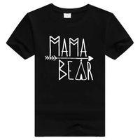 Wholesale Cotton Lycra Shirts Wholesale - Women Men T Shirt Mama Bear Short Sleeve T-Shirt Cotton Letter Print Tshirt Man Casual O Neck T Shirts Female Short Sleeve T