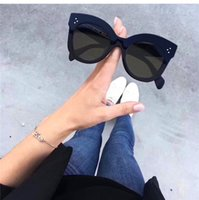 Wholesale Eyes Sunglasses Frames - New fashion designer sunglasses cat eye frame simple popular style top quality uv protection eyewear for women with original box 41443