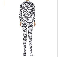 Wholesale Sexy Lycar - sexy women Lycar Spandex Halloween Famale Costumes Cosplay one pieces Brown Leopard zebra Tiger stripes Tiger Zentai catsuit Costumes