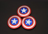 Wholesale Toys Metal Gears - Captain America Shield Hand Spinner Metal Fidget Spinner 4 gear spinner Toys EDC Autism ADHD Finger Gyro Toy Adult Gifts