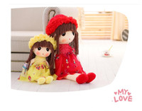 Wholesale Cute Couple Toys - 50CM Wholesale and retail Kawaii cute girl Plush Toy Stuffed Couple Bears Soft Kids Toys Baby Huggable Dolls Children Girls New Year Gifts
