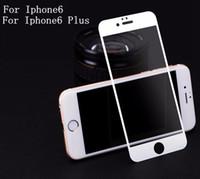 temperli cam ekran koruyucusu renkleri iphone toptan satış-0.2mm iPhone 6 6 S 6 artı 6 S artı Tam Kapak Temperli Cam Ekran Koruyucu Anti-Scratch 2 renkler