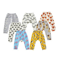 Wholesale Girls Autumn Apparel - 2017 Newest Leggings Boys Girls Baby Childrens Pants Cartoon Animals Print Trousers Toddler Kids Apparel Boutique Infant Clothes Wholesale