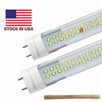 Wholesale 18w t8 led tube light - Stock In US + 4ft led t8 tubes Light 18W 22W 25W 28W 1200mm Led Fluorescent Lamp Replace regular Tube AC 110-240V UL FCC
