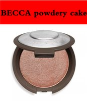 Wholesale Press Bottom - 2017 Becca powdery cake rose gold pearl protein shiny skin quality powdery bottom 4 kinds of color DHL free shipping