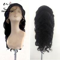 Wholesale Modern Wigs For Women - xintianlun 20 inch fashion natural color hair nets, modern way human hair full lace wig for balck women