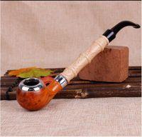 Wholesale Bakelite Resin - The New Resin Pipe Imitation Wood Filter Pole Rod Tobacco Straw Filter Bakelite Pipe