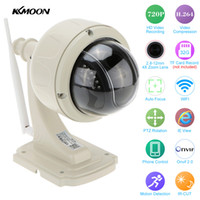 KKMOON Wireless IP Camera PTZ Outdoor 720P HD 2.8-12mm 4X Zoom CCTV Sicurezza Network Video sorveglianza IP Camera Wifi Dome Cam