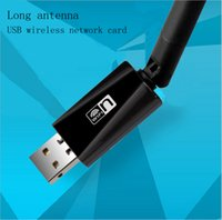 Wholesale Notebook Network Card - 150M mini wireless network card 5DB external antenna desktop or notebook PC portable WIFI receiver wholesale
