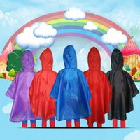 Wholesale Fairy Costumes For Kids - Superhero Raincoat Cartoon kids Waterproof Rain Coat Rainwear for children Christmas Halloween Cosplay Prop Costumes Free Shipping