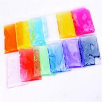 Wholesale Crystal Language - Rubber Mud Toys 1Set 12 Color Clay Slime DIY Crystal Mud Transparent Magic Plasticine Kid Toys Argila de plastilina