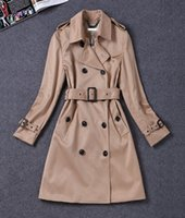 Wholesale Polka Dot Coat Women S - 2017 hot new women's autumn windbreaker women long section double-breasted trunks coat British department belt windbreaker