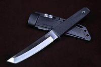 clones cuchillo al por mayor-Clon Cold Steel 17T KOBUN Tanto Point Cuchillo de cuchilla de goma Mango de supervivencia Cuchillo recto con ABS K Sheath