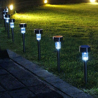 lampes solaires à pic achat en gros de-2017 Nouveau 1 pc Solaire LED Lumière Extérieure Solaire Pelouse Jardin Lumières Paysage Chemin Stake Solaire Lampe En Plastique LED Spike Lumières