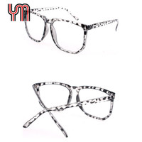 Vente en gros- Hot Large Black Clear Lens Eyewear Big Square Optical Frame Lunettes de nerf Retro Nerd Geek Femmes Homme Mannequin Unisexe 030-018