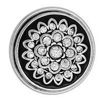 Wholesale Large Buttons Diy - 29mm DIY Snap Button Noosa Chunks White Diamond Flower DIY Round Large Button Jewelry Accessories Valentine'S Day Present N81S