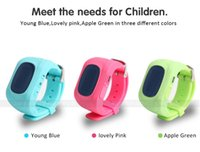 Wholesale Outdoor Gps Watches - OLED Full Screen Q50 Kids GPS Tracker Children Smart Watch Phone SIM Quad Band GSM Safe SOS Call For Android IOS sim card