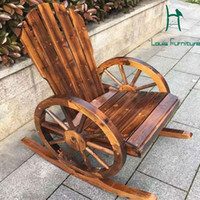 Wholesale good quality chairs - Wholesale- Moon chair wood arm chair good quality decorated handwork for outdoor furniture