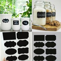 Barato Quadros Por Atacado Para O Casamento-Atacado- 50PCS / Set New Wedding Home Kitchen Jars Blackboard Stickers Chalk Lables 20.5 * 23cm
