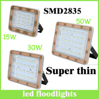 Wholesale New design super thin style Led Floodlights Waterproof ip65 W W W Led Outdoor Flood Lights led Landscape Lamp wall pack lamp hotsale