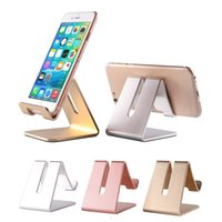 Wholesale Metal Stand For Tablet - Cell Phone Stand Universal Aluminum Metal Phone Holder For iPhone 6 7 Plus Samsung S8 Tablet Desk Phone Holder Stand For Smart Watch