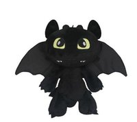 Wholesale toothless plush stuffed animal - 30cm Night Fury How to Train your Dragon 2 Toothless Soft Plush dolls Soft Stuffed Toy Christmas Gifts