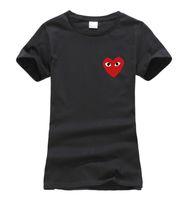 lustige koreanische t-shirts großhandel-Großhandels-2016 Sommeraugen im Herzen Druck-Frauen-T-Shirt Baumwollart und weise harajuku Marke koreanisches T-Shirt femme lustiger Punk dünne Hipsteroberteile