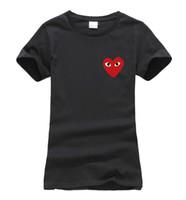 Wholesale Funny Korean T Shirts - Wholesale-2016 summer eyes in heart Print Women T-shirt cotton fashion harajuku brand korean tee shirt femme funny punk slim hipster tops